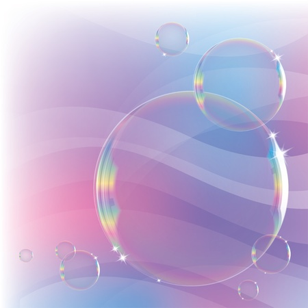 rainbow sphere: abstract background with soap bubbles and sparks