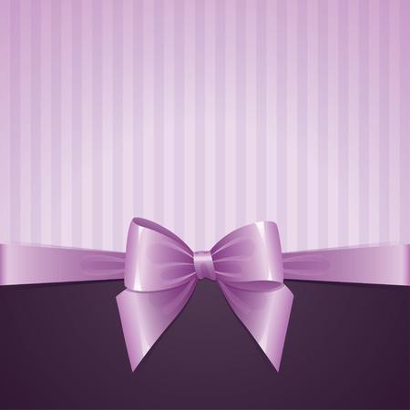 violette achtergrond met boog, vintage design Vector Illustratie