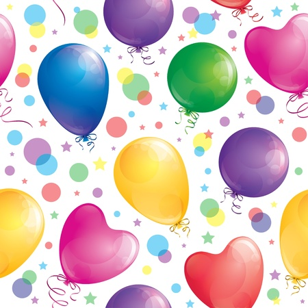 seamles pattern of realistic glossy balloons, vector Stock Vector - 12958758