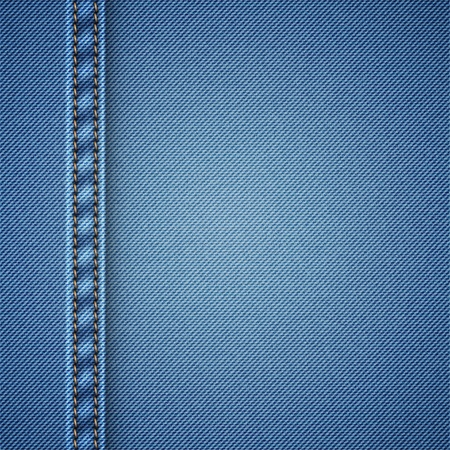 realistic denim background, vector eps 10 illustration