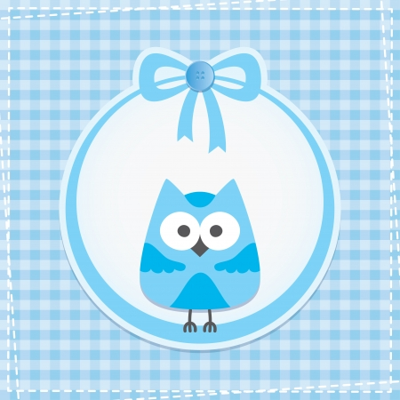 baby frame with owl, vector eps 10 Vector
