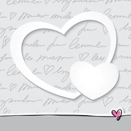 スクラップブッキング: 紙の心  イラスト・ベクター素材