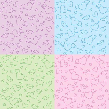 romantic patterns Vector
