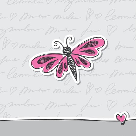 hand drawn card Vector