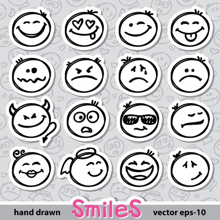 set of smiles Stock Vector - 18146262