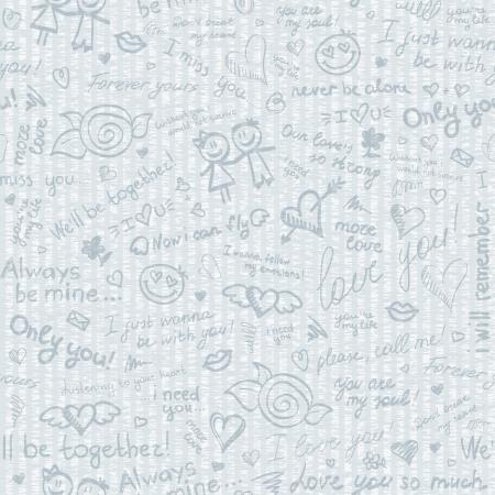 hand getekende patroon Stock Illustratie