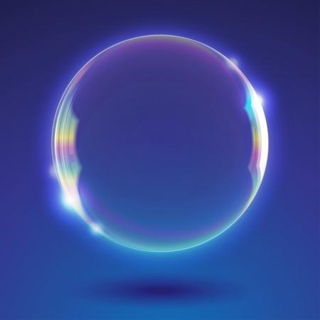 burbujas de jabon: fondo abstracto con burbuja de jabón realista