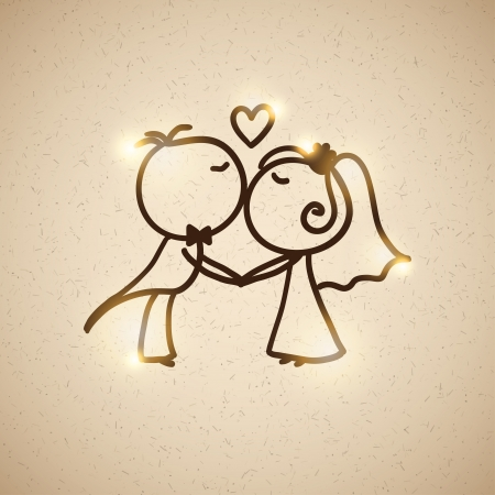 wedding couple: wedding couple, vector eps 10 Illustration
