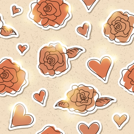 seamless pattern of roses, vector eps 10 Vector