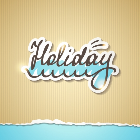 summer holiday inscription, vector eps 10