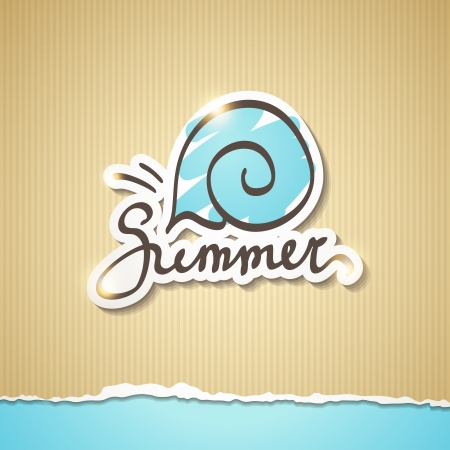 summer illustration, vector eps 10