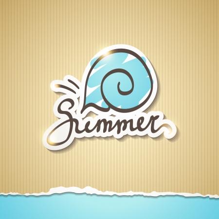 zomer illustratie, vector eps 10