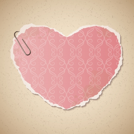 heart of paper Vector