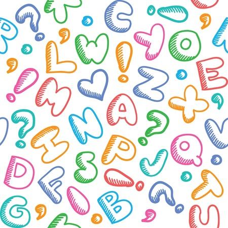 alphabet pattern Illustration