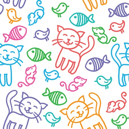 cat pattern Vector