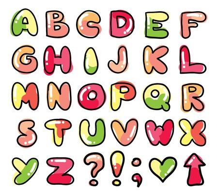 funny alphabet Stock Illustratie