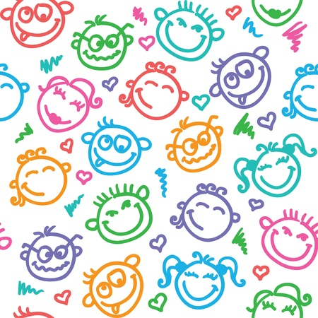 funny faces Stock Vector - 18717135
