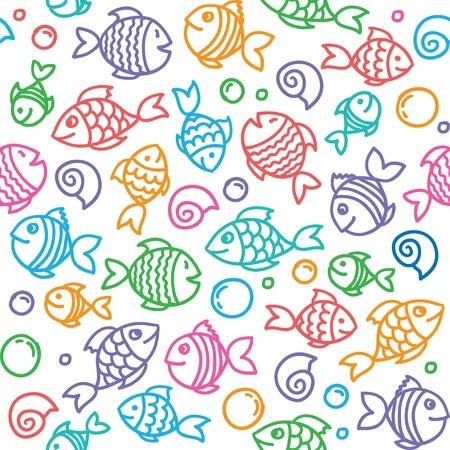 fish pattern  イラスト・ベクター素材