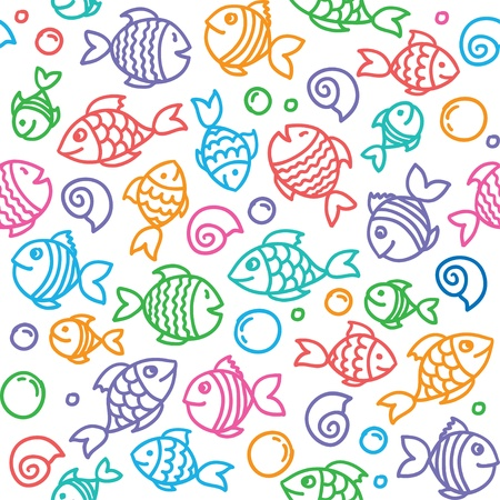 shell fish: fish pattern Illustration