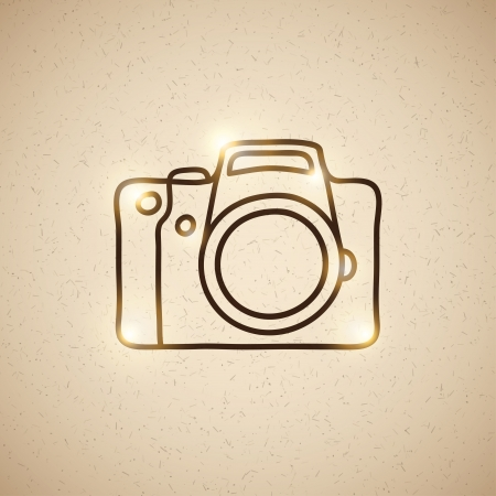 reflex: photo camera Illustration