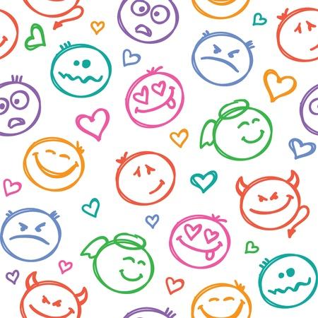笑顔のパターン 写真素材 - 18814067