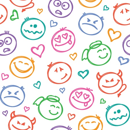 pattern of smiles