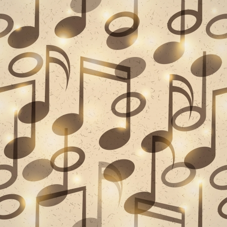 vintage music pattern Vector