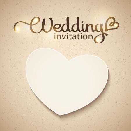 handwrite: wedding invitation Illustration
