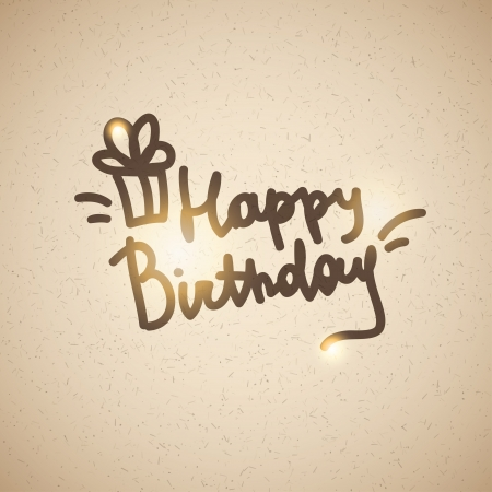 happy birthday, handwriting lettering Stock Vector - 21006056