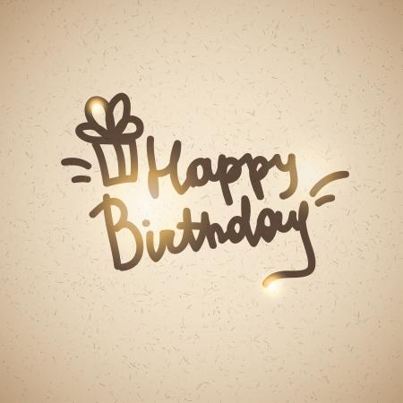 happy birthday, handwriting lettering Stock Vector - 21006056