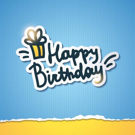happy birthday, handwriting lettering Stock Vector - 21006125