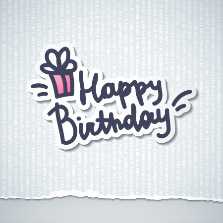 happy birthday, handwriting lettering Stock Vector - 21006126