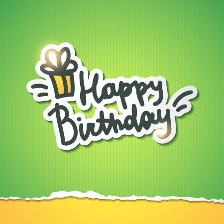 happy birthday, handwriting lettering Vector
