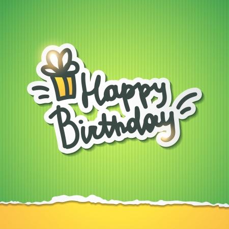 happy birthday, handwriting lettering Stock Vector - 21006159
