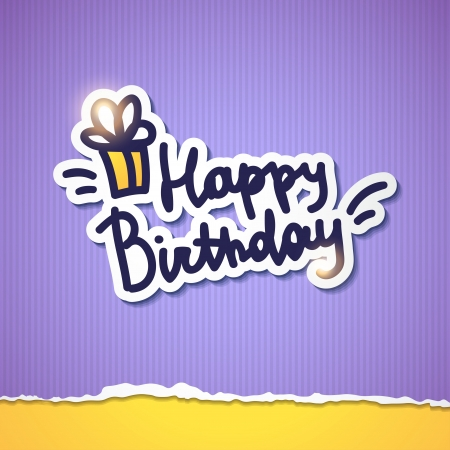 happy birthday, handwriting lettering Stock Vector - 21006169
