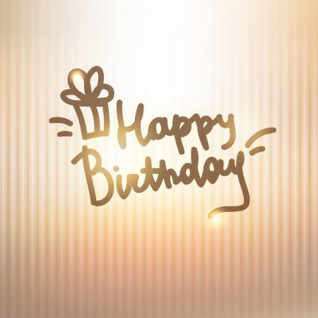 happy birthday, handwriting lettering Stock Vector - 21006227