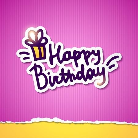 happy birthday, handwriting lettering Stock Vector - 21171733