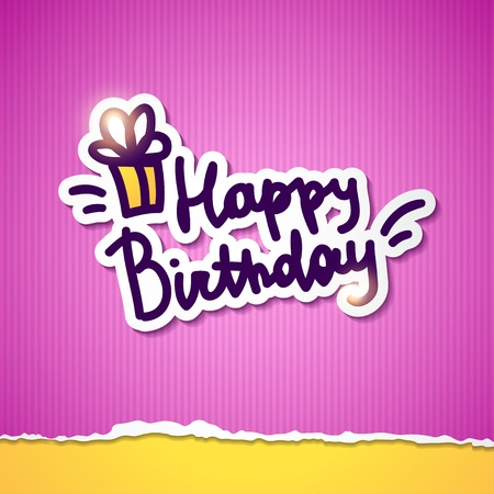handwrite: happy birthday, handwriting lettering