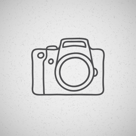 reflex: hand drawn photo camera on vintage background