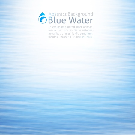 vector water background with drop icon Vector