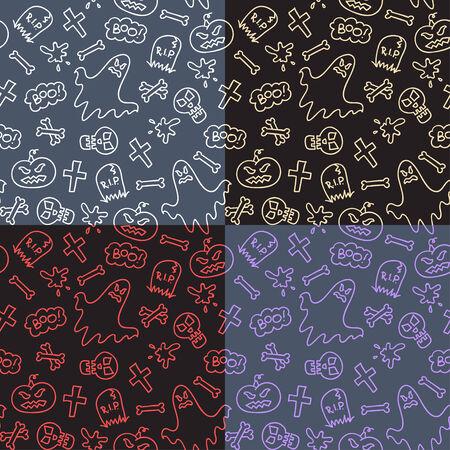 halloween symbols pattern photo