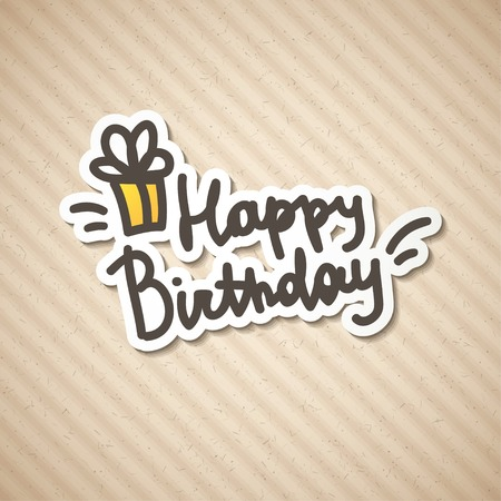 happy birthday, handwritten text Stock Photo - 26480432