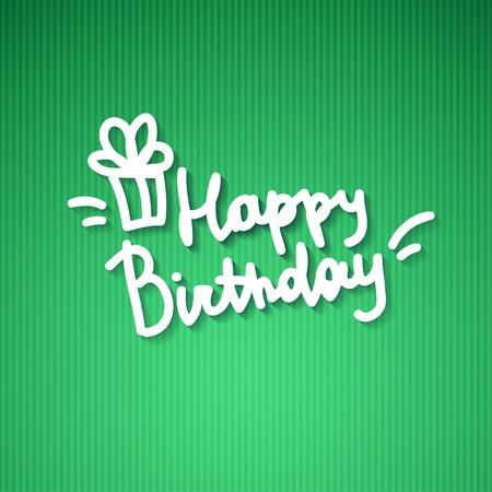 happy birthday, handwritten text Stock Photo - 26480419