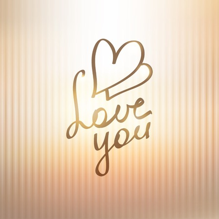 love you, hanwritten text photo