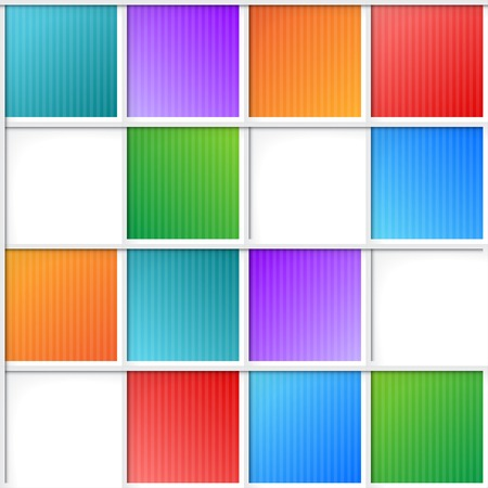 ceiling tile: multicolor squares, seamless pattern