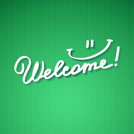 welcome, handwriting phrase photo