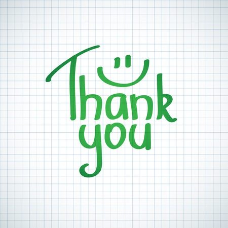 Thank You inscription, hand drawn Stock Photo - 26481106