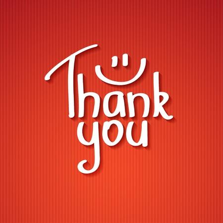 handwrite: Thank You text paper sticker