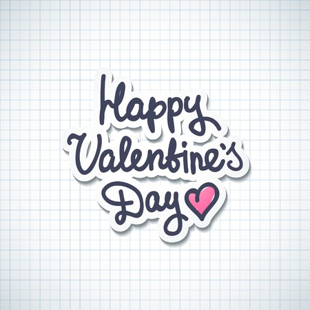 handwrite text, happy valentine's day Stock Photo - 26481453