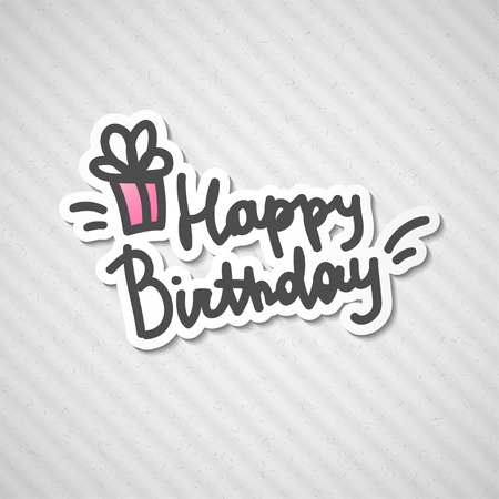 happy birthday, handwritten text Stock Photo - 26481451